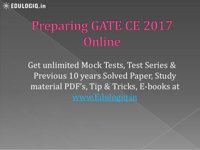 Gate Civil Engineering Study Material Pdf