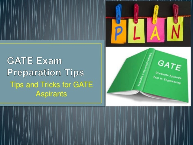 Tips and Tricks for GATE Aspirants