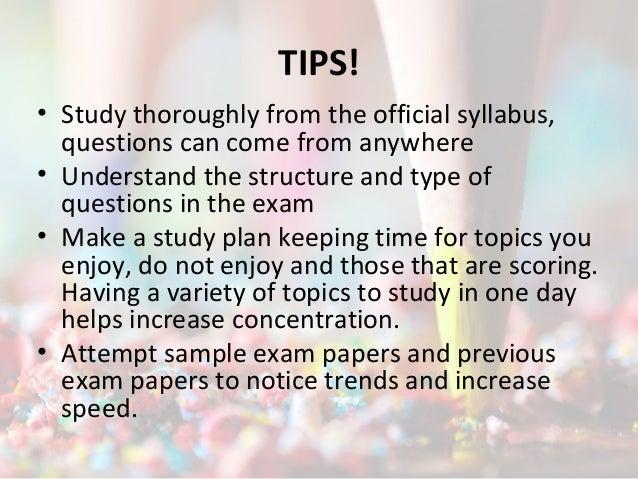 Gate exam tips and tricks