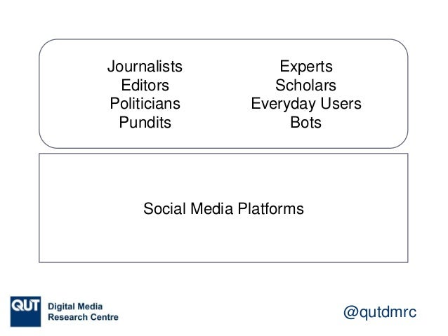 """@qutdmrc Journalism and / on Social Media 'hybrid system' of '""""older"""" and """"newer"""" media' — Andrew Chadwick et al. 'with so..."""