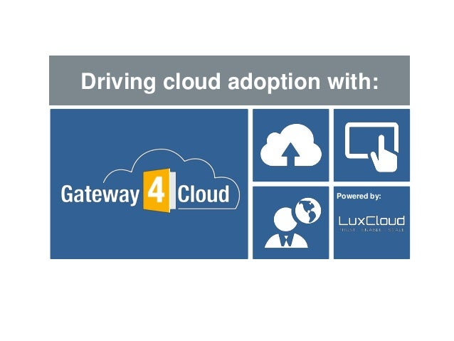 Powered by: Powered by: Driving cloud adoption with: