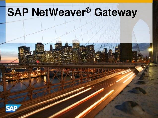 SAP NetWeaver® Gateway