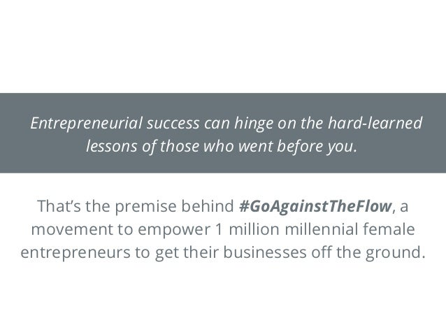 Entrepreneurial success can hinge on the hard-learned lessons of those who went before you. That's the premise behind #GoA...