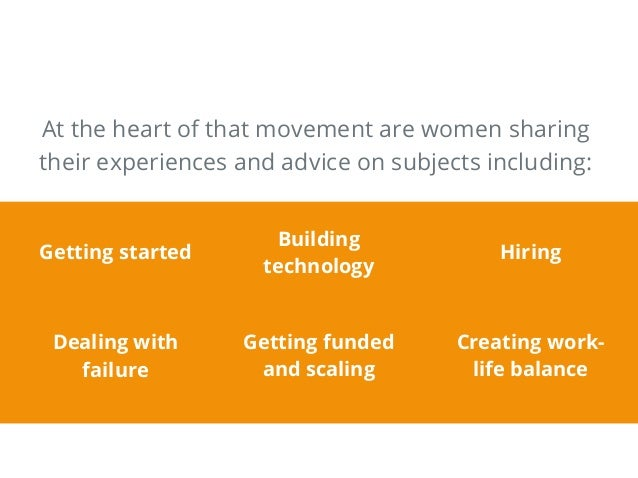 At the heart of that movement are women sharing their experiences and advice on subjects including: Getting started Buildi...