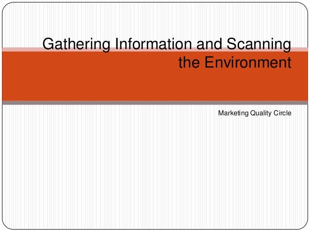 Gathering Information and Scanning the Environment Marketing Quality Circle