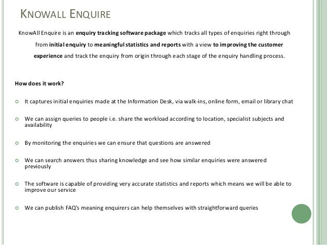 Gathering Meaningful Statistics Using Knowall Enquire By