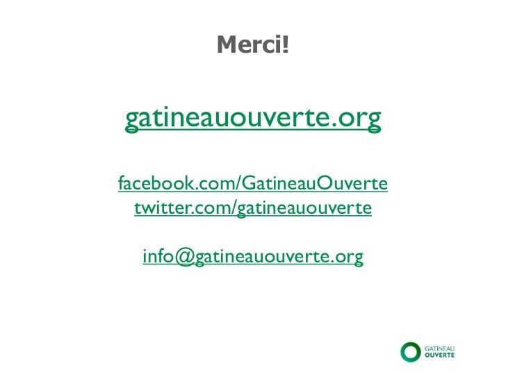Gatineau Ouverte troisième rencontre publique