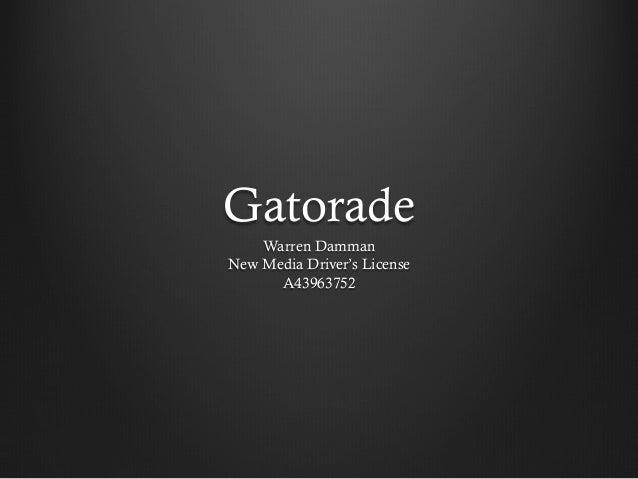 Gatorade Warren Damman New Media Driver's License A43963752