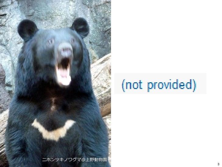 _gaTracker 第4回ミーティング『not providedをどうとらえるか』 いちしま泰樹 Slide 3