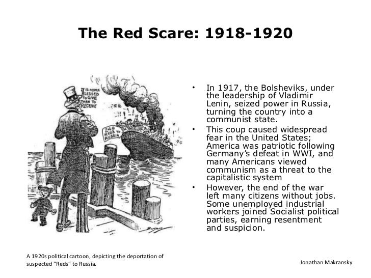 an analysis of the causes and effects of the red scare
