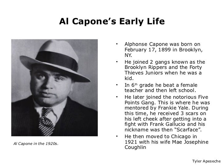 thesis on al capone Free al capone papers, essays, and research papers.