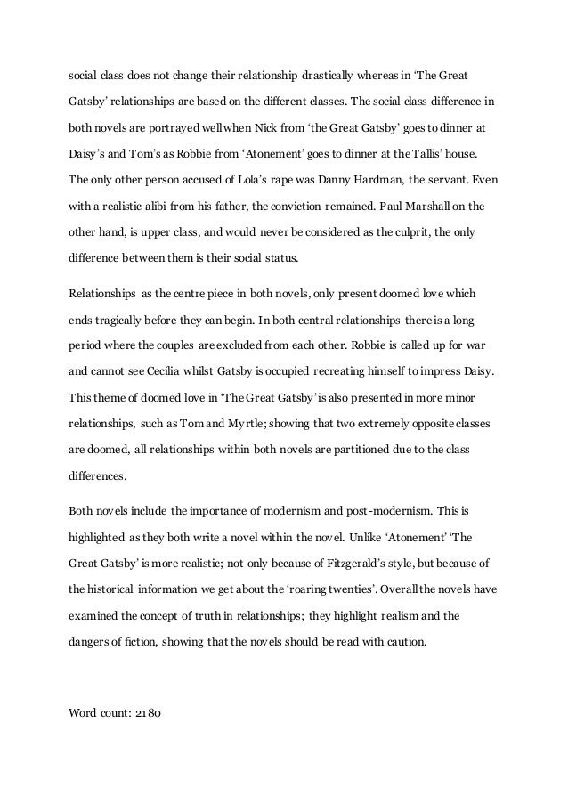 Essay about love in the great gatsby