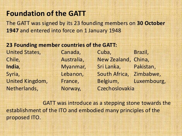 Gatt gatt and wto the general agreement platinumwayz
