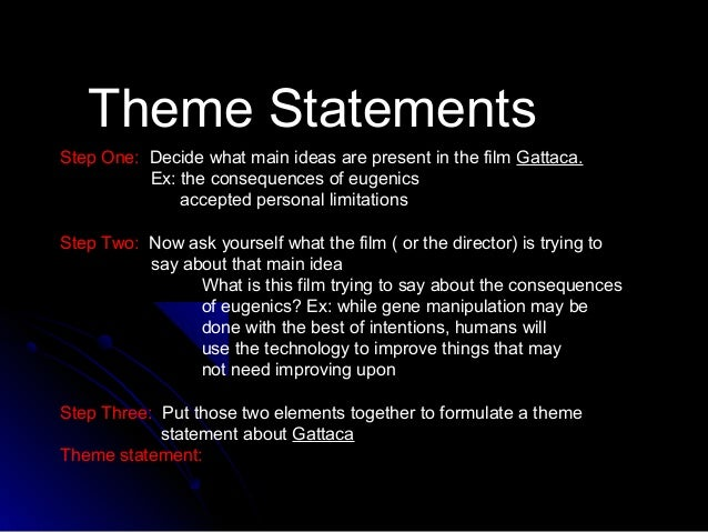 What can be a good thesis statement for