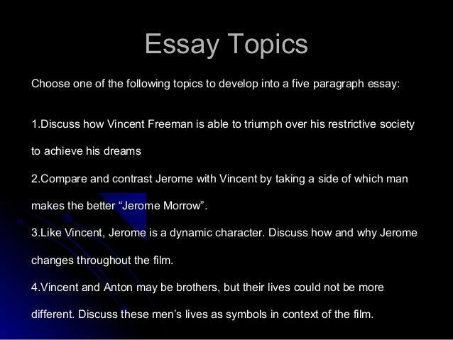 gattaca essay writing power point  topic specific opinion thesis 26