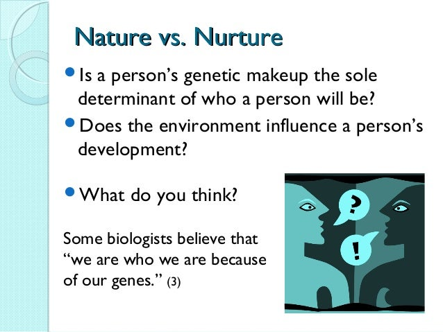 nature vs nurture essay yahoo This site might help you re: nature vs nurture examples i am a little fuzzy in understanding how nature vs nurture works what would be some examples of nature vs nurture.