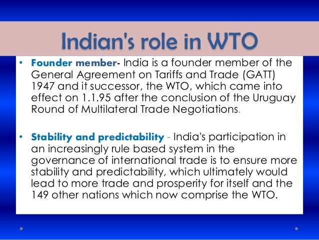 International business gatt to wto