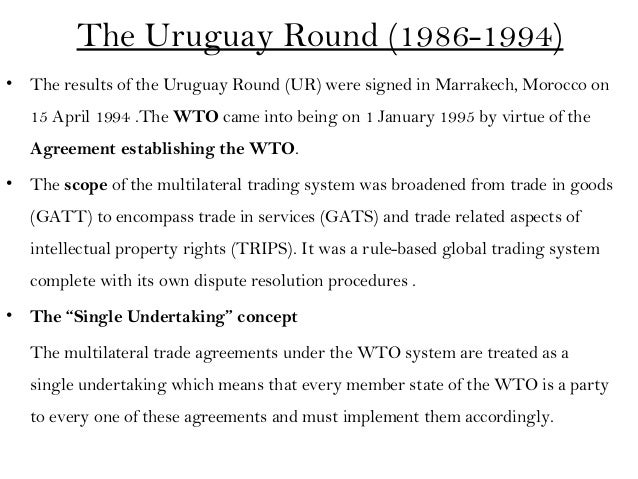 Rule wto based system trading