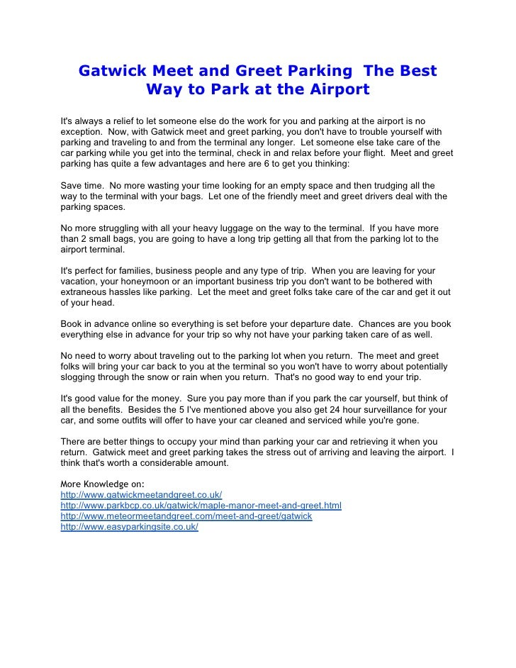 Gatwick meet and greet gatwick meet and greet parking the best way to park at the airportits always a relief m4hsunfo
