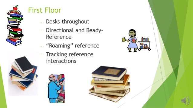 """First Floor - Desks throughout - Directional and Ready- Reference - """"Roaming"""" reference - Tracking reference interactions"""