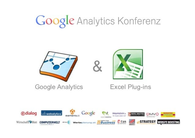 &Google Analytics       Excel Plug-ins