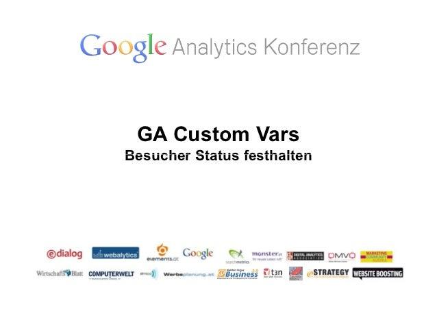 GA Custom VarsBesucher Status festhalten