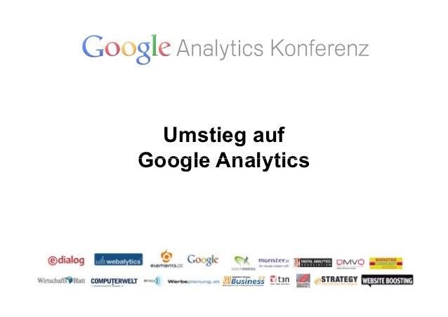 Umstieg aufGoogle Analytics