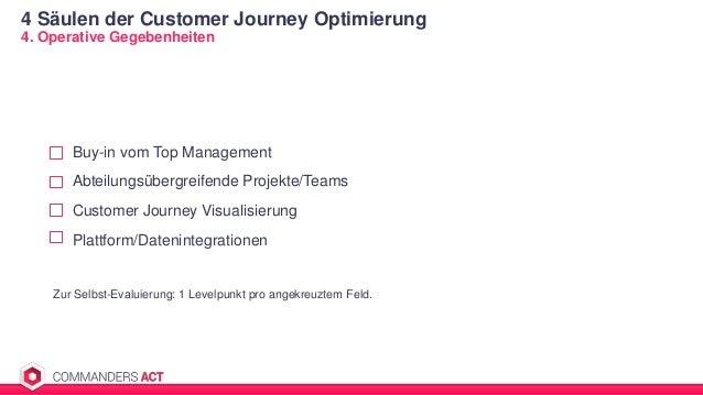 4 Säulen der Customer Journey Optimierung 4. Operative Gegebenheiten Buy-in vom Top Management Abteilungsübergreifende Pro...