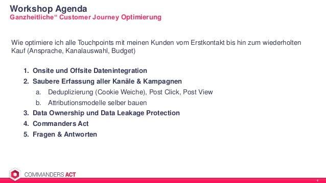 """Workshop Agenda 4 Ganzheitliche"""" Customer Journey Optimierung Wie optimiere ich alle Touchpoints mit meinen Kunden vom Ers..."""