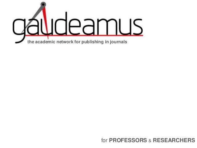 the academic network for publishing in journals for PROFESSORS & RESEARCHERS