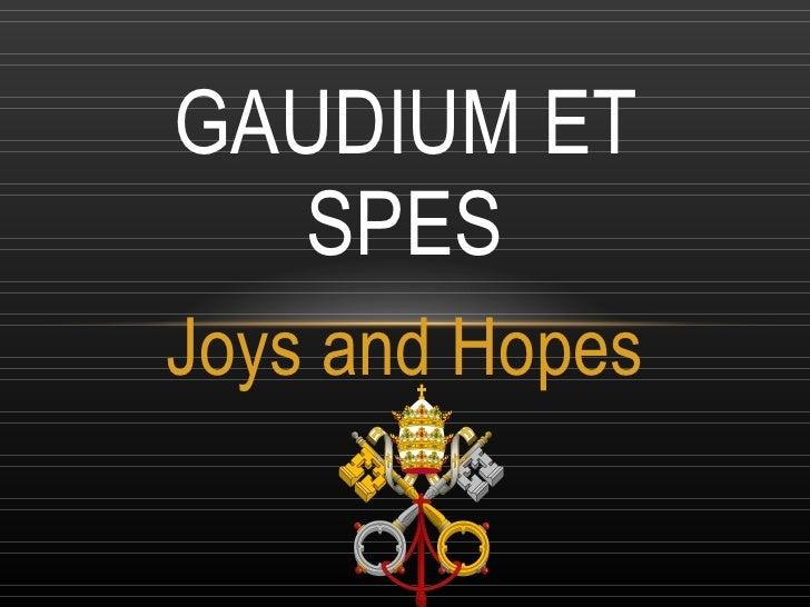 Summary of gaudium et spes essay
