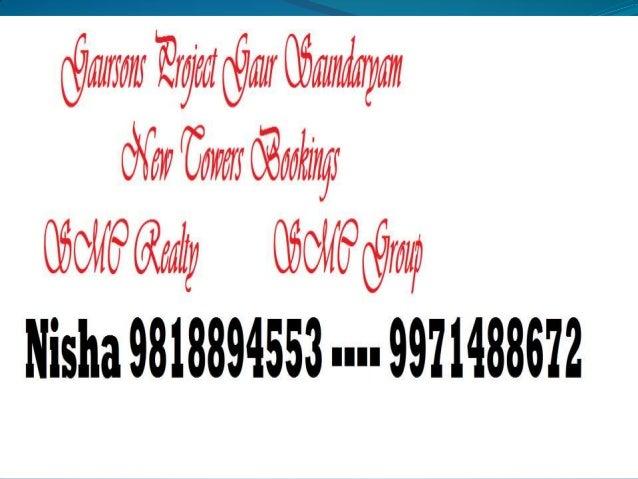 9818894553 Gaur Saundaryam Brochure| Noida Extension New Towers