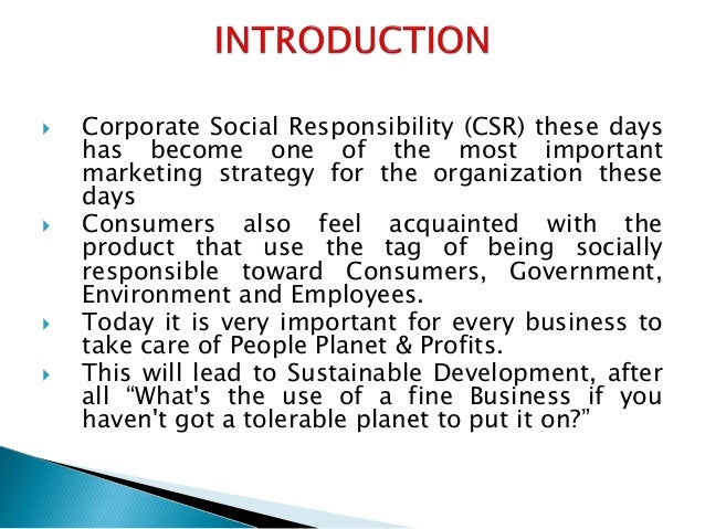 corporate social responsibility and marketing