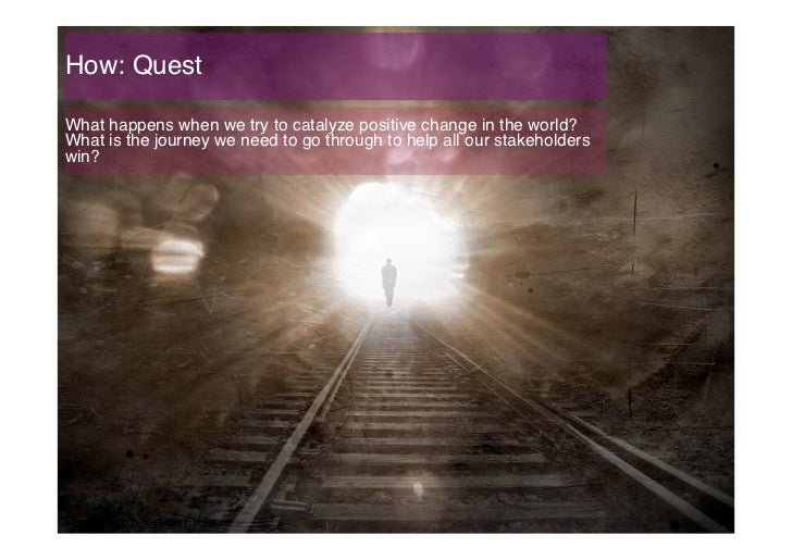 How: Quest!What happens when we try to catalyze positive change in the world?What is the journey we need to go through to ...