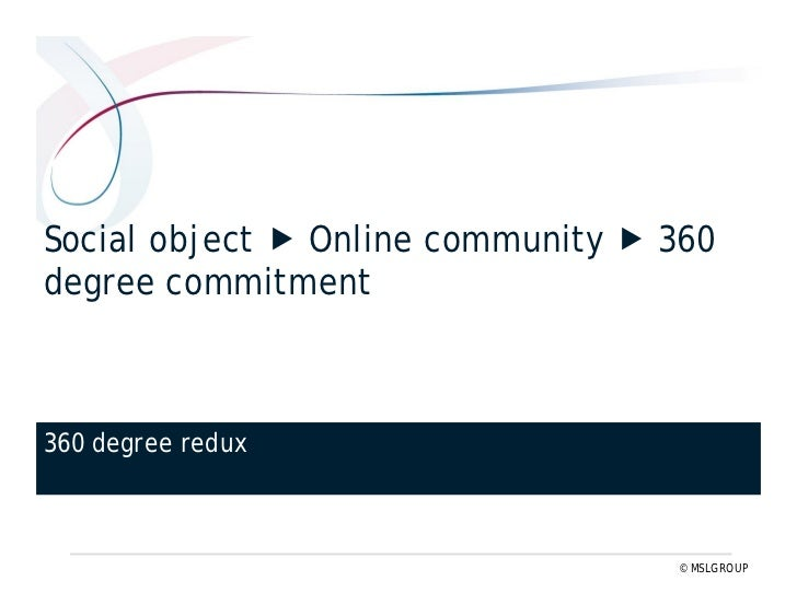 Inside-out brand message  outside-in social object    Six shifts in 360° redux (#1) www.threesixtyredux.com