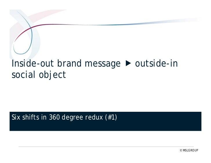 Short-term campaigns  long-term commitment    Six shifts in 360° redux (#3) www.threesixtyredux.com