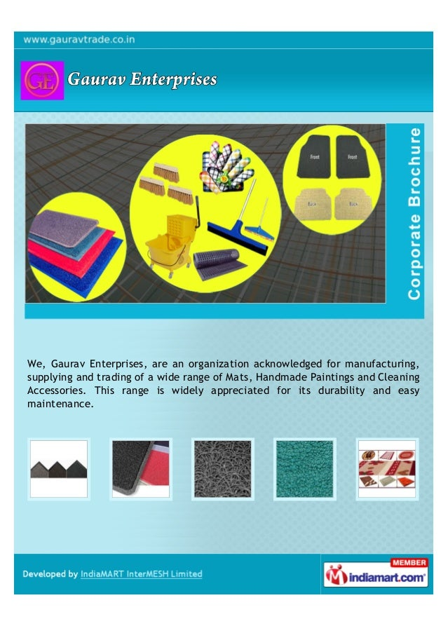 We, Gaurav Enterprises, are an organization acknowledged for manufacturing,supplying and trading of a wide range of Mats, ...