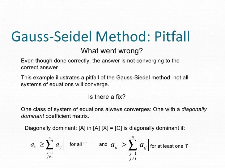gauss gauss seidel numerical methods We're committed to providing you with high-value course solutions backed by great service and a team that cares about your success.