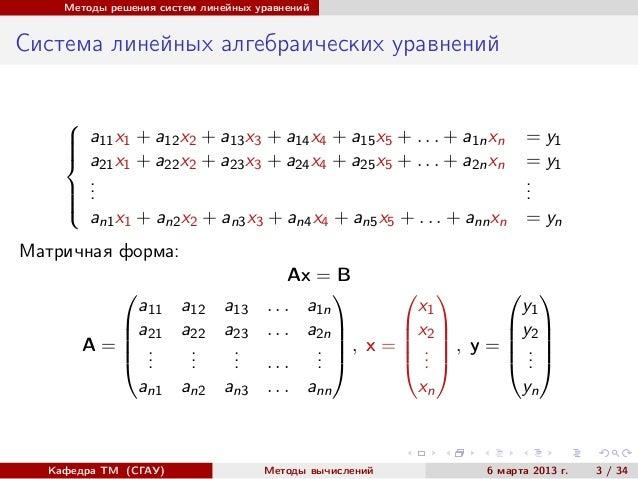 Метод Гаусса Программу