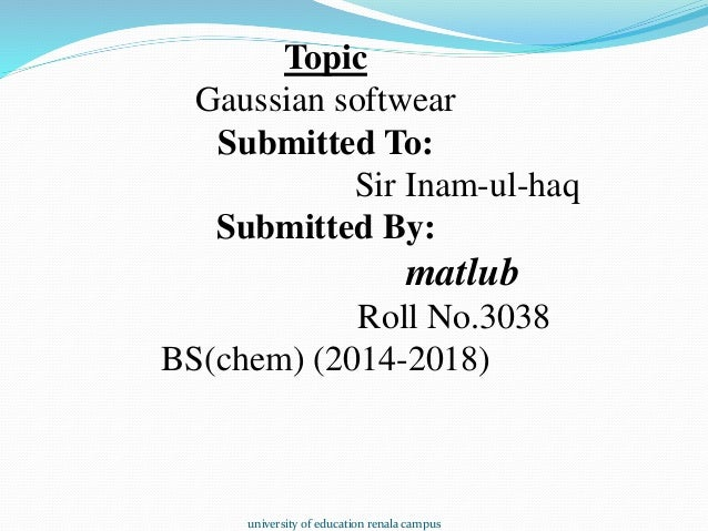Download gaussian software