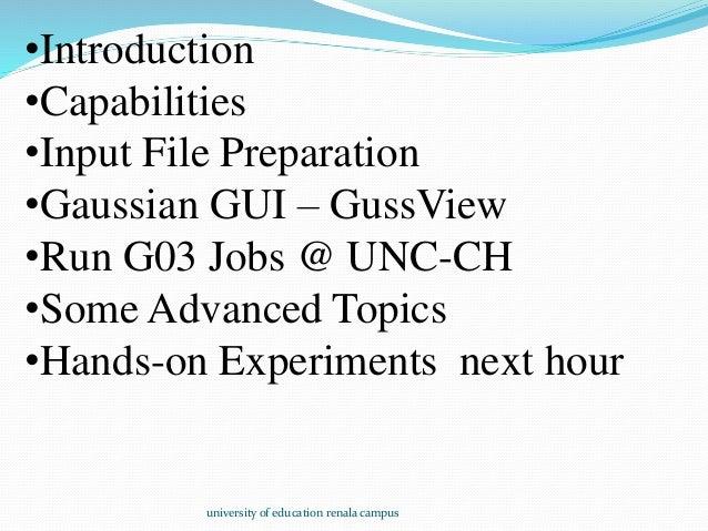Gaussian software