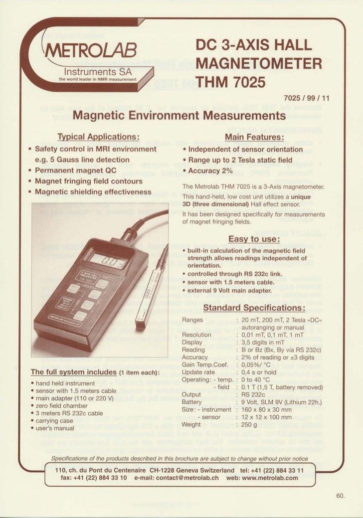 Gaussmetro thm7025   data sheet