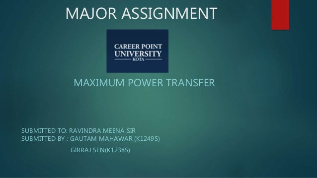 maximum power transformEquation R L Is A Variable Therefore The Condition For Maximum Power #21