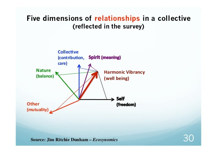 Five dimensions of relationships in a collective                        (reflected in the survey)                 CollecGv...