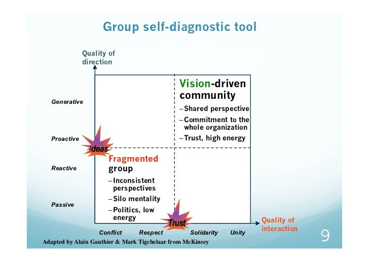Group self-diagnostic tool               Quality of               direction                                               ...