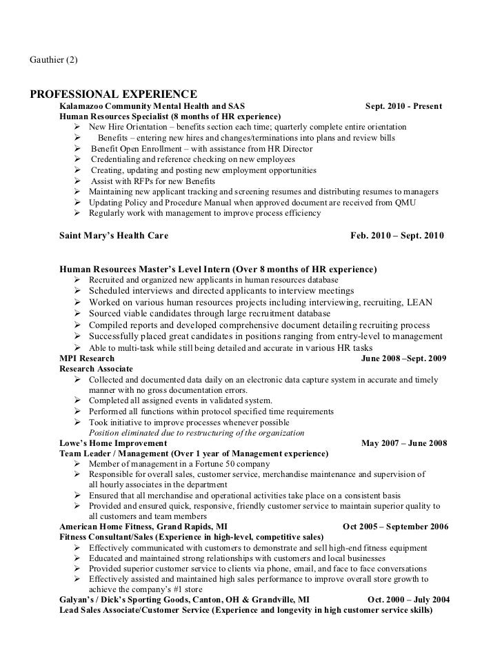 Hr resume review – Hr Resume