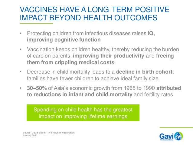 the benefits of vaccinations Vaccines provide economic benefits for society the cdc estimates that children vaccinated between 1994 and 2014 have yielded net savings of $138.