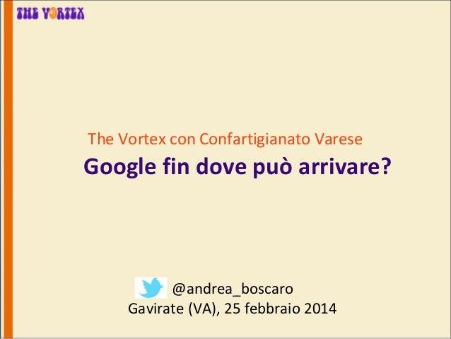 The Vortex con Confartigianato Varese  Google fin dove può arrivare?  @andrea_boscaro Gavirate (VA), 25 febbraio 2014