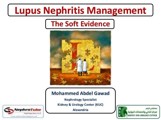 Lupus Nephritis ManagementMohammed Abdel GawadNephrology SpecialistKidney & Urology Center (KUC)AlexandriaThe Soft Evidence