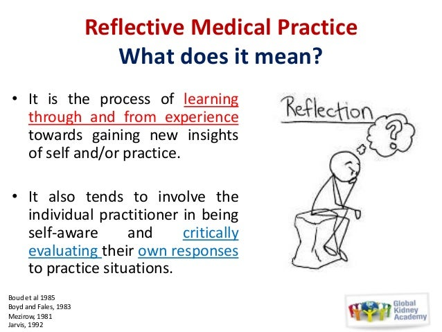 reflecting on reflective practice